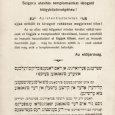 A Budapesti Orthodox Hitközség elöljáróságának jiddis-magyar kétnyelvű figyelmeztető hirdetménye