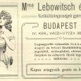 Mme. Lebowitsch és társa fűzőgyárának hirdetése